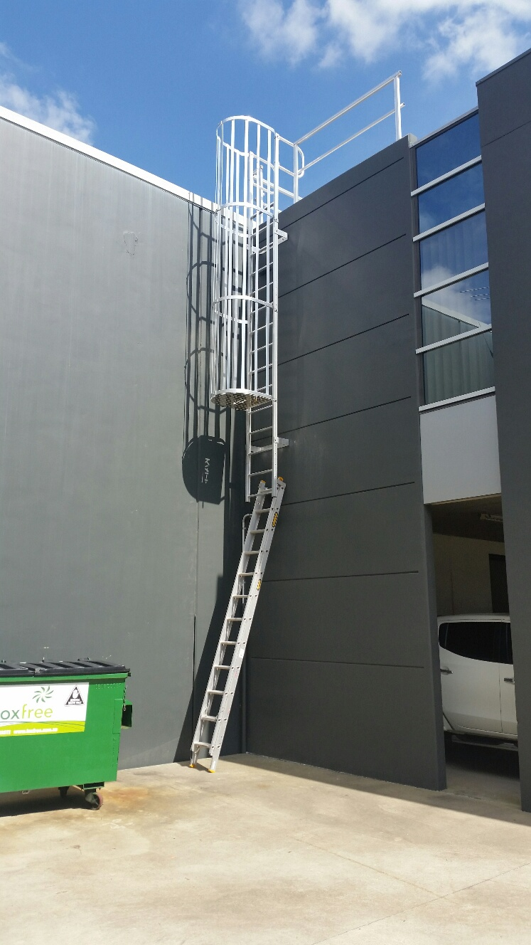 Caged Roof Access Ladders I Height Safety Systems I Brisbane