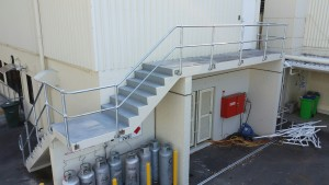 hot dipped galvanised monowills handrails
